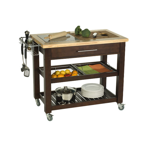 Chris & Chris Pro Chef Kitchen Island with Granite Top