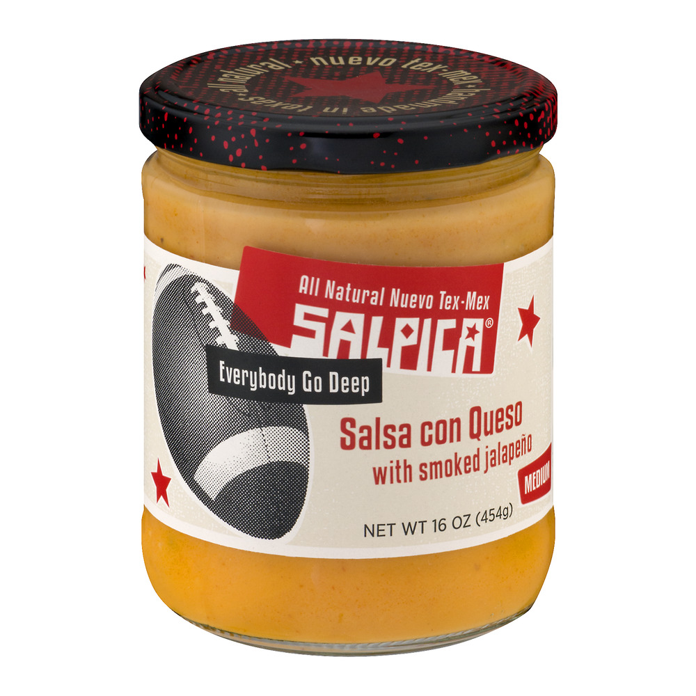 Salpica Salsa Con Queso With Smoked Jalapeno Medium, 16.0 OZ