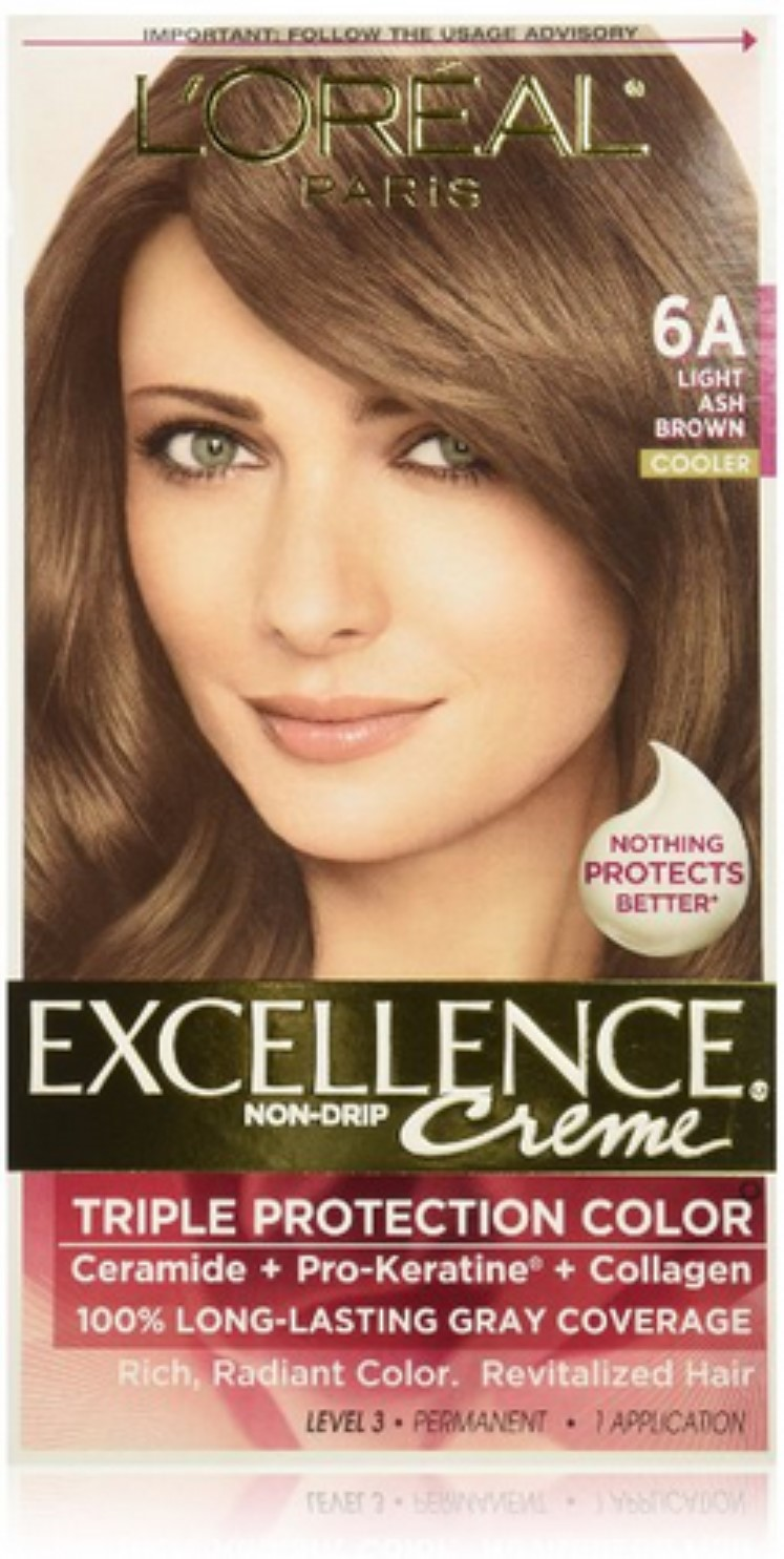 Loreal Paris Excellence Creme Haircolor Light Ash Brown 6a