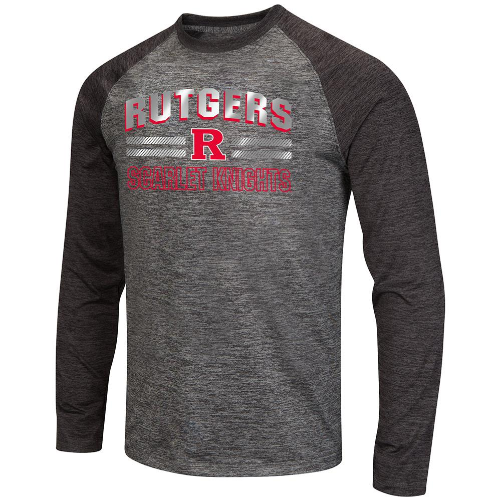Mens NCAA Rutgers Scarlet Knights Raven Long Sleeve Tee Shirt