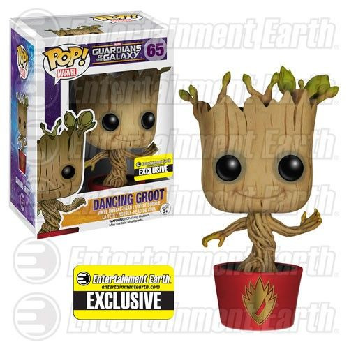 Marvel Guardians of the Galaxy Pop! Vinyl Bobblehead Ravagers Dancing Groot [Entertainment Earth Exclusive]