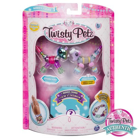 Twisty Petz - 3-Pack - Sunshiny Pony, Posie Poodle and Surprise Collectible Bracelet Set for