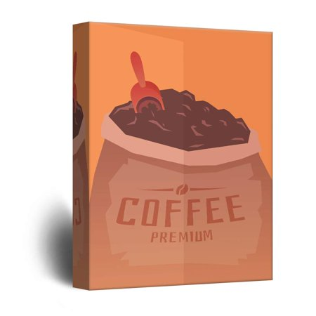 Bag Gallery (wall26 - Canvas Wall Art - A Bag of Coffee Powder - Giclee Print Gallery Wrap Modern Home Decor Ready to Hang - 12x18)