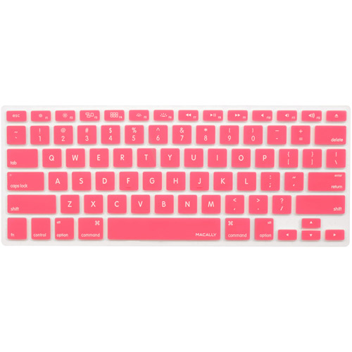 Macally KBGUARDP Silicon Overlay for MacBook Pro/MacBook Air or Mac Keyboard, Pink
