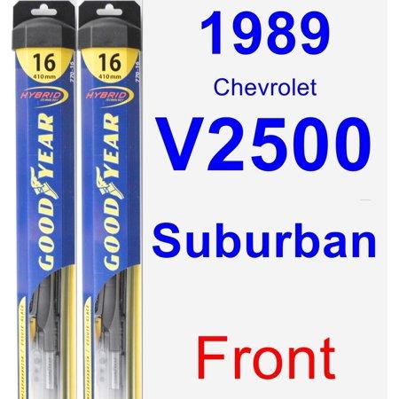 1989 Chevrolet V2500 Suburban Wiper Blade Set/Kit (Front) (2 Blades) - Hybrid