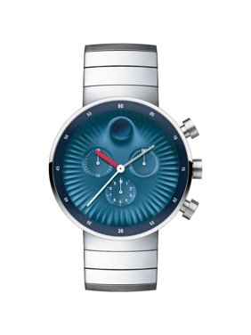 Movado Edge 3680010 Blue Dial Stainless Steel Men's Watch