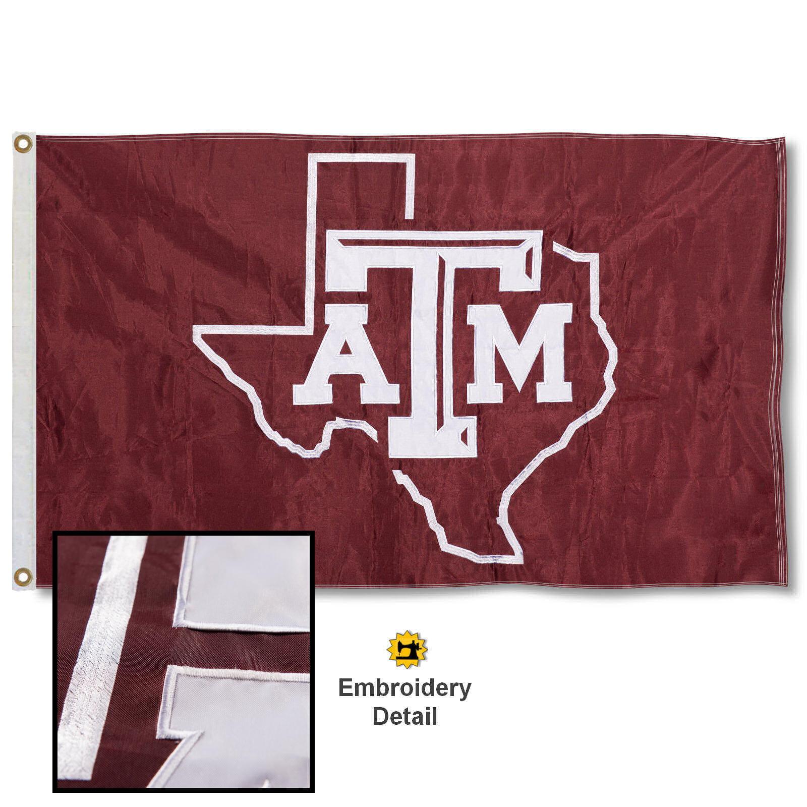 Texas A&M 3' x 5' Nylon Embroidered Flag