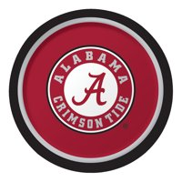 """Club Pack of 96 NCAA University of Alabama Crimson Tide Paper Party Dinner Plates 9"""""""