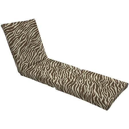 hometrends pattern chaise lounge cushion zebra. Black Bedroom Furniture Sets. Home Design Ideas