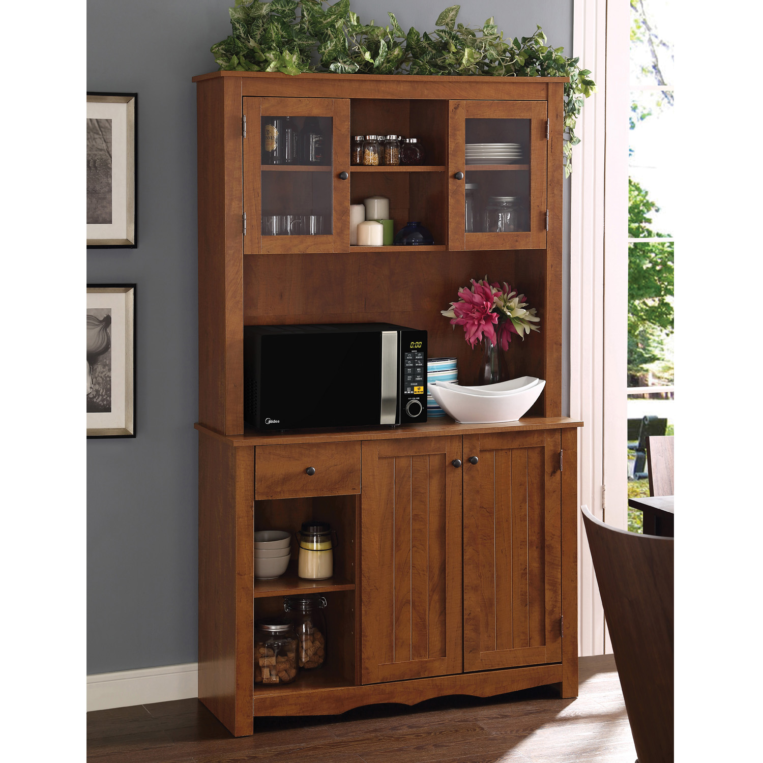 Home Source Oak Hills China Cabinet MOP