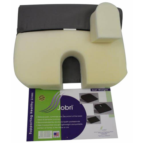 Jobri BetterPosture Memory Seat Wedge with Removable Coccyx Cut-Out, Grey