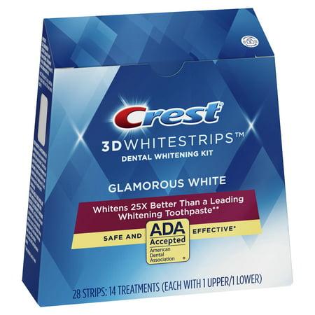 Crest 3D Whitestrips Glamorous White Teeth Whitening Kit, 14