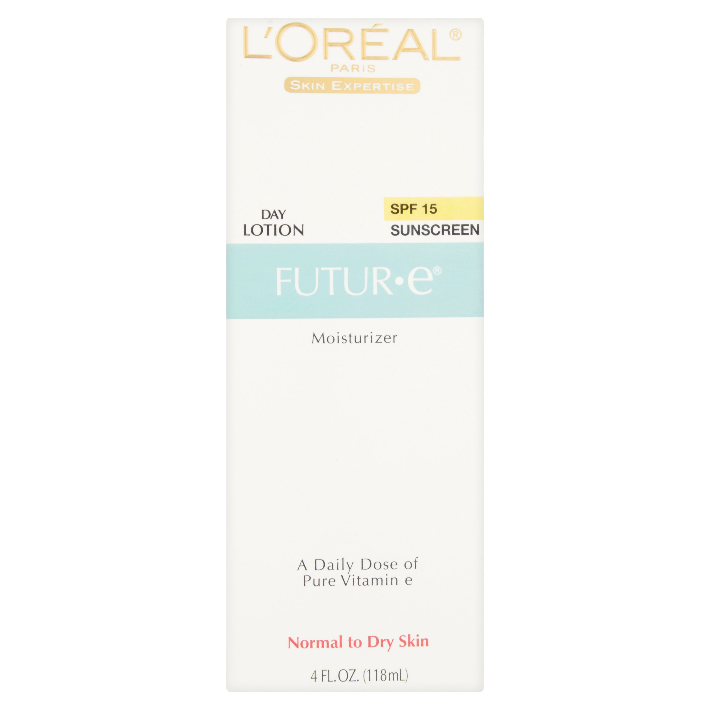 L'Oreal Paris Futuroe Day Lotion Sunscreen Moisturizer, SPF 15, 4 fl oz