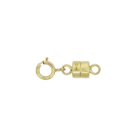 14k Gold 4 mm Magnetic Clasp Converter for Light Necklaces USA, Square Edge (Lighted Necklace)