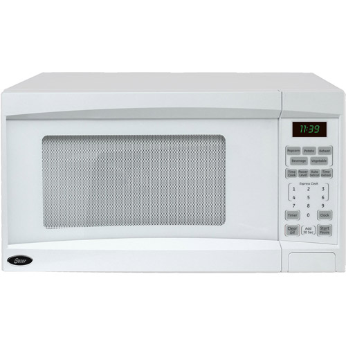 Oster 1.1 cu ft Digital Microwave Oven with Turntable, White