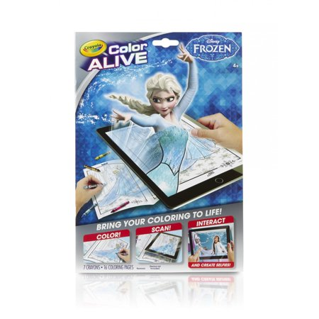 Crayola Color Alive Disneys Frozen 16 Coloring Pages And