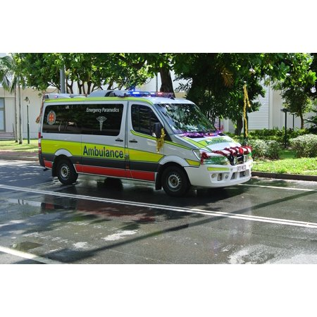 LAMINATED POSTER Parade Christmas Decorations Ambulance Poster Print 24 x 36](Parade Decorations)
