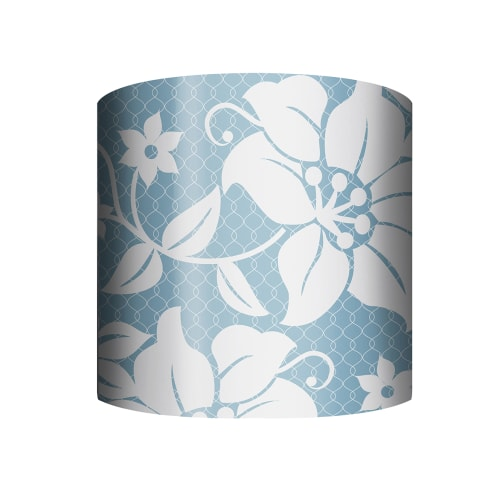 "PTM Images 10-0001 Floral 10"" Tall x 12"" Wide Cylinder Net Fabric Lamp Shade with Spider Fitter"