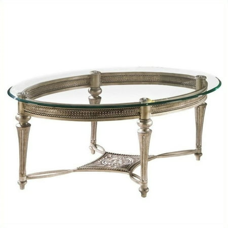 Galloway Cocktail (Magnussen Galloway 2 Piece Oval Glass Top Cocktail and End Table Set)