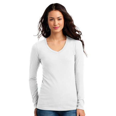 District Women's Long Sleeve V-Neck Concert T-Shirt ()