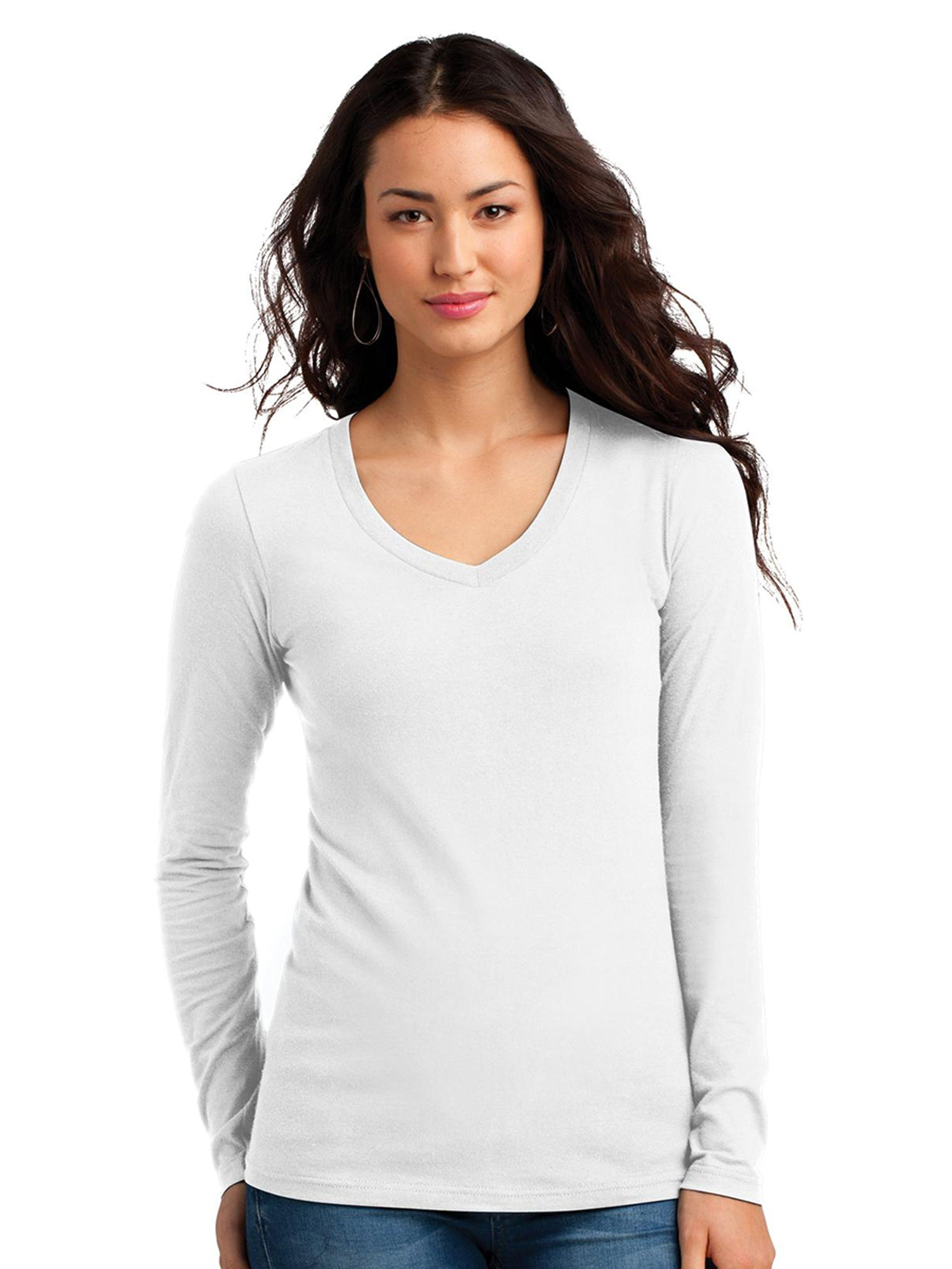 District Women's Long Sleeve V-Neck Concert T-Shirt