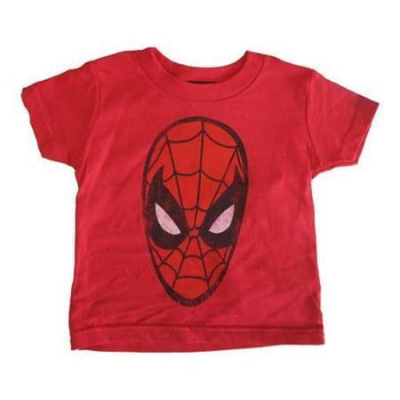 s Baby Girls Red Spiderman Logo Print Crew Neck Cotton T-Shirt 12-18M