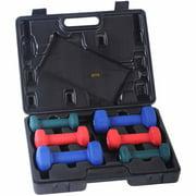 Sunny Health & Fitness 2, 3, 5 lb Neoprene Dumbbell Set with Case