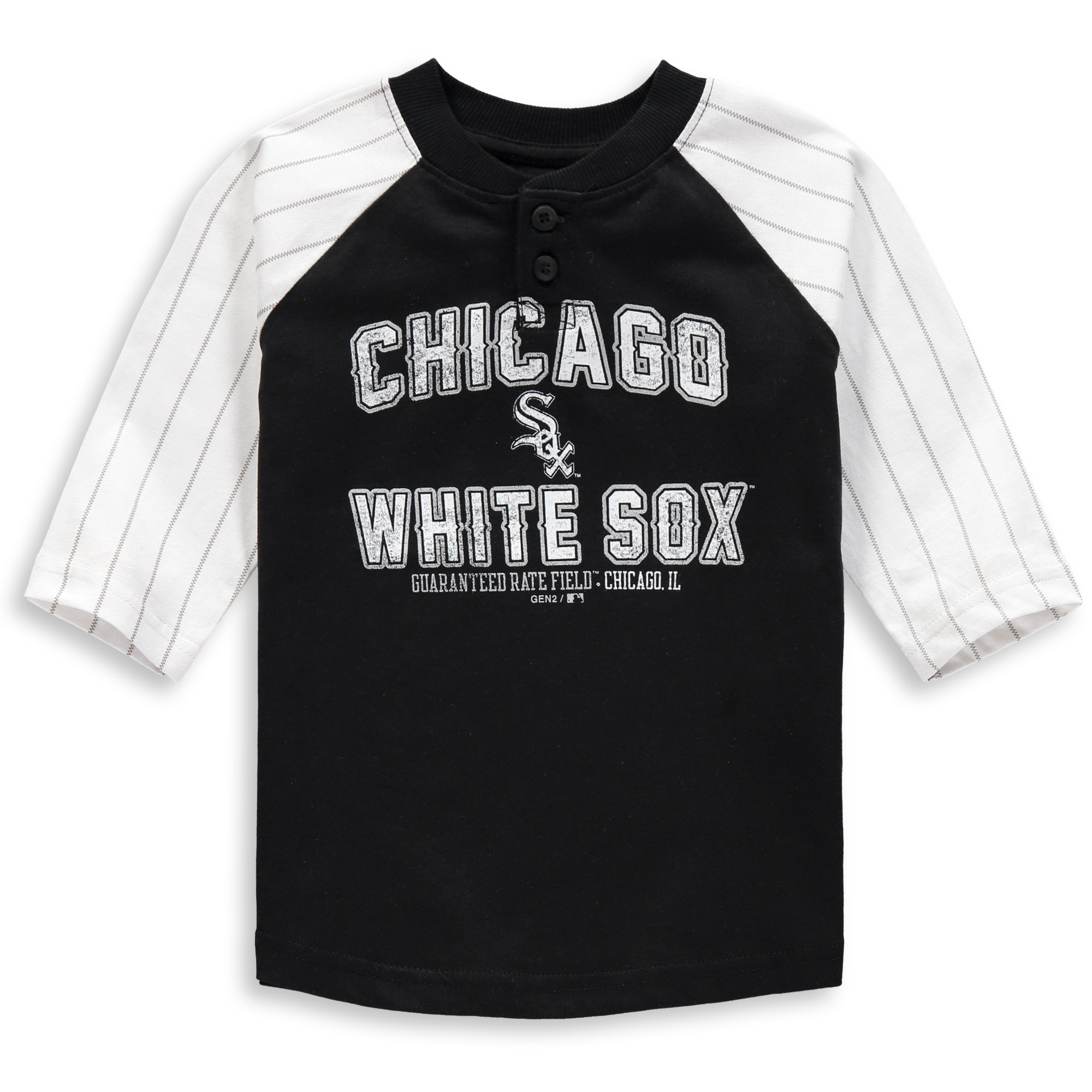 Chicago White Sox Toddler The Original 3/4-Sleeve T-Shirt - Black