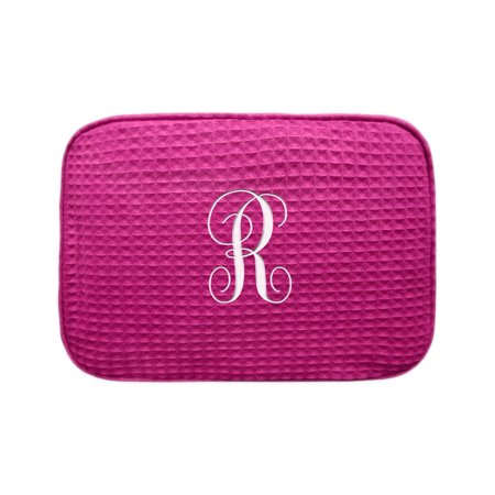 Embroidered Initial Personalized Makeup Bag