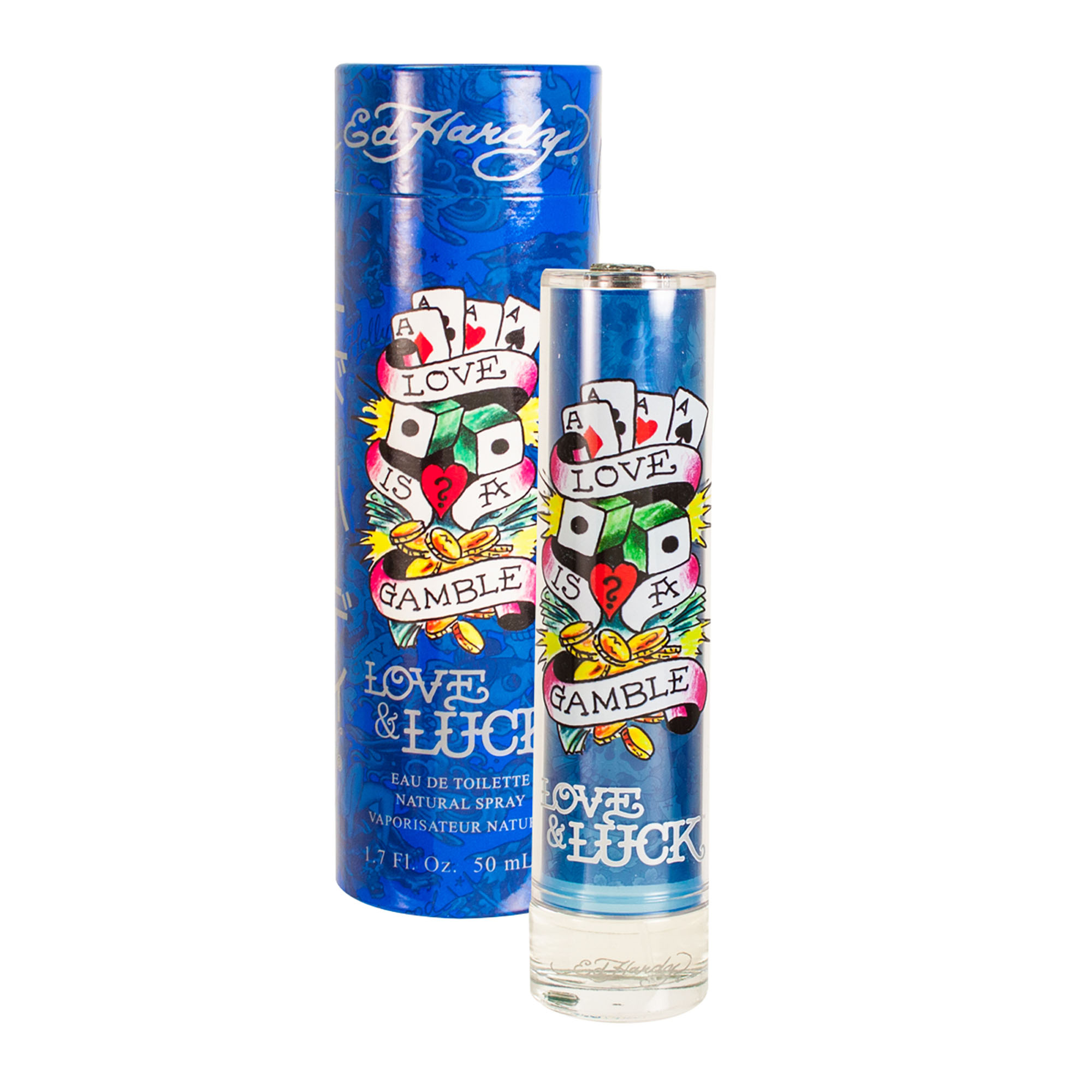 Ed Hardy Love & Luck Eau De Toilette Spray, 1.7 Oz