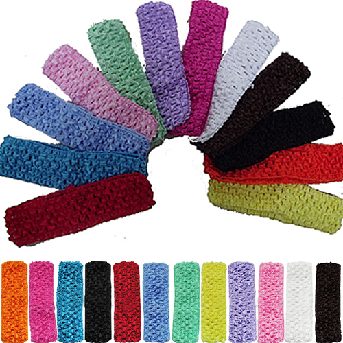 Girl12Queen 12Pcs Toddler Baby Kid Girl 12 Colors 1.5 Inch Crochet Headbands Hair Bands