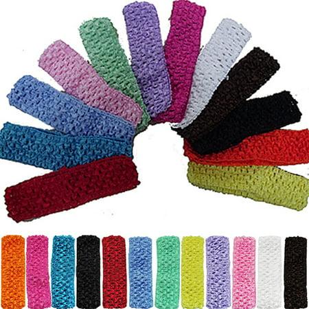 Girl12queen 12pcs Toddler Baby Kid Girl 12 Colors 15 Inch Crochet
