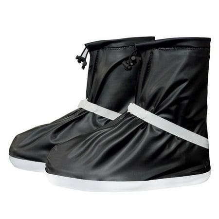 - SHOEGIRLS Women Waterproof Shoe Covers Slip-Resistant Reusable Overshoes, Black, M