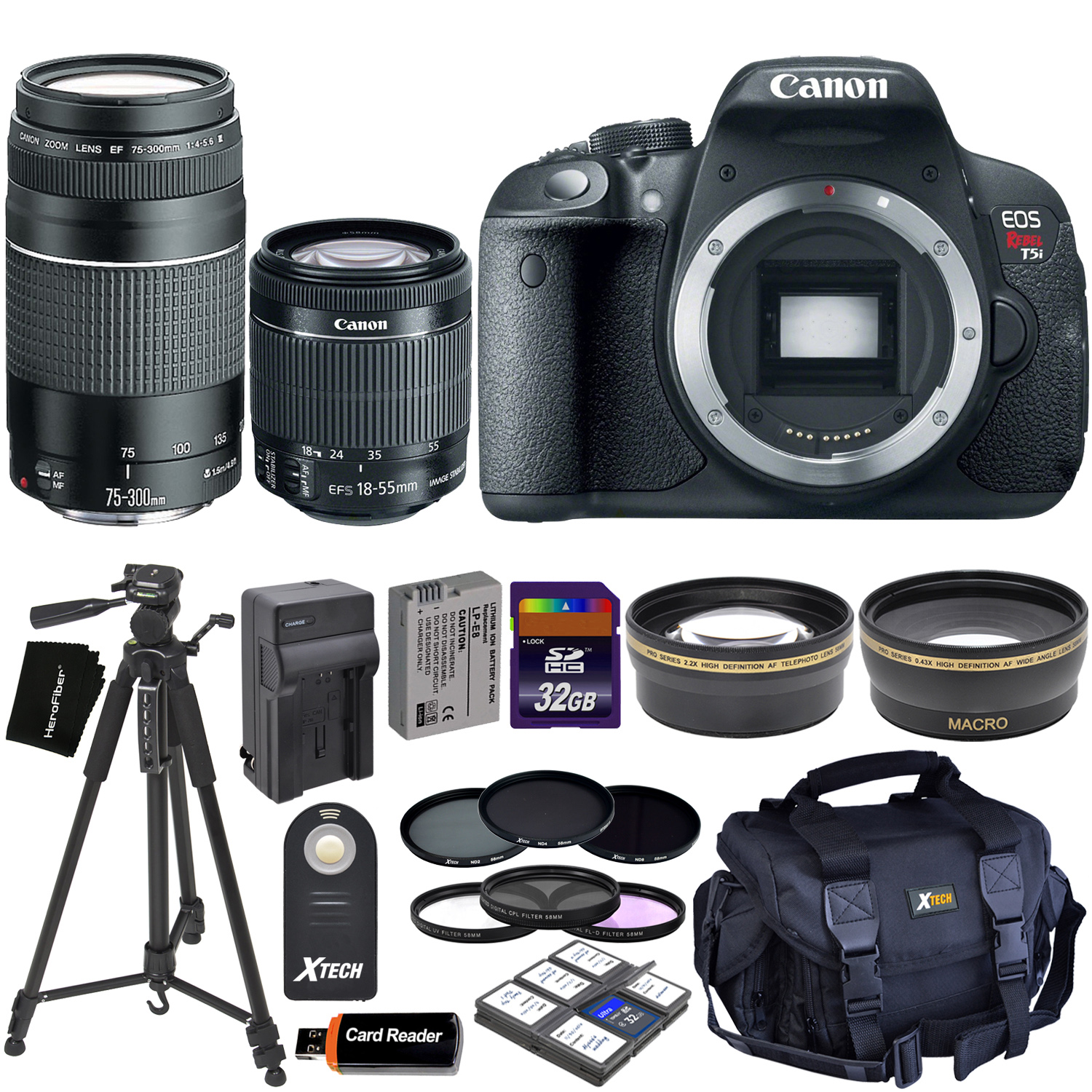 Canon EOS Rebel T5i DSLR Camera with 18-55mm IS STM & 75-...