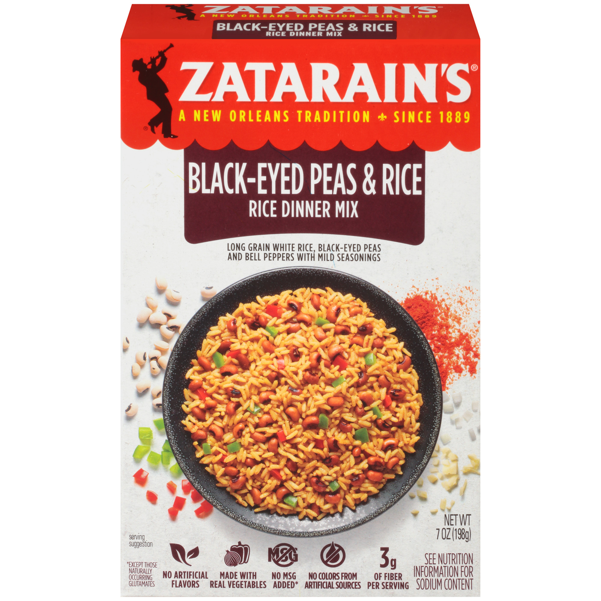 Zatarain's Black Eyed Peas & Rice, 7 oz