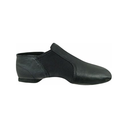Girls Black Leather Gore Split Sole Jazz Boots 10 - Girls Leather Boots
