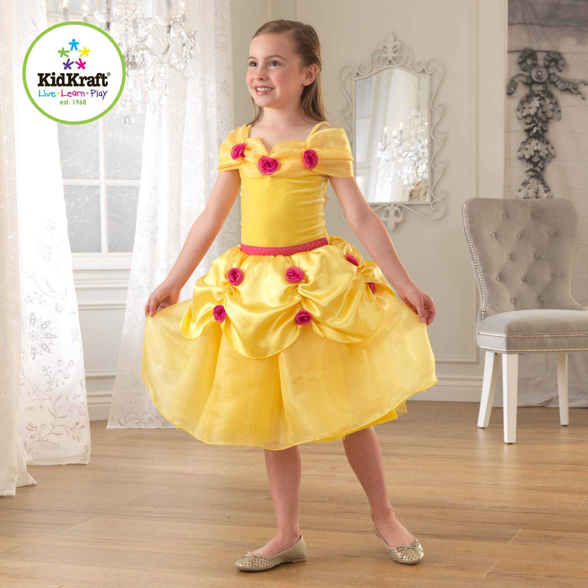 KidKraft Yellow Rose Princess Dress Up Costume