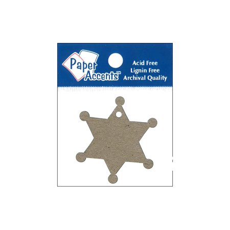 Sherriff Badge (Chip Shape Tag 12pc Sheriff Badge)