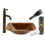 """Premier Copper Products Bsp1_Pvrec17 17"""" Rectangular Vessel Sink - Bronze"""