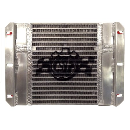 CSF Dual Fluid Bar & Plate HD Oil Cooler w/9in SPAL Fan (1/3 & 2/3 Partition) -