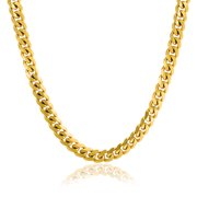 8MM Strong Shinny Silver and Gold Tone Stainless Steel Figaro Link Chain Necklace For Men Teen Medium Width 24 30 inch