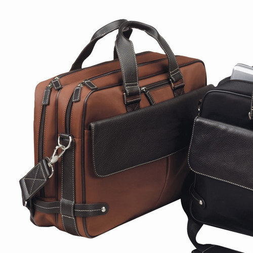 Bellino The Trans Continental Leather Laptop Briefcase