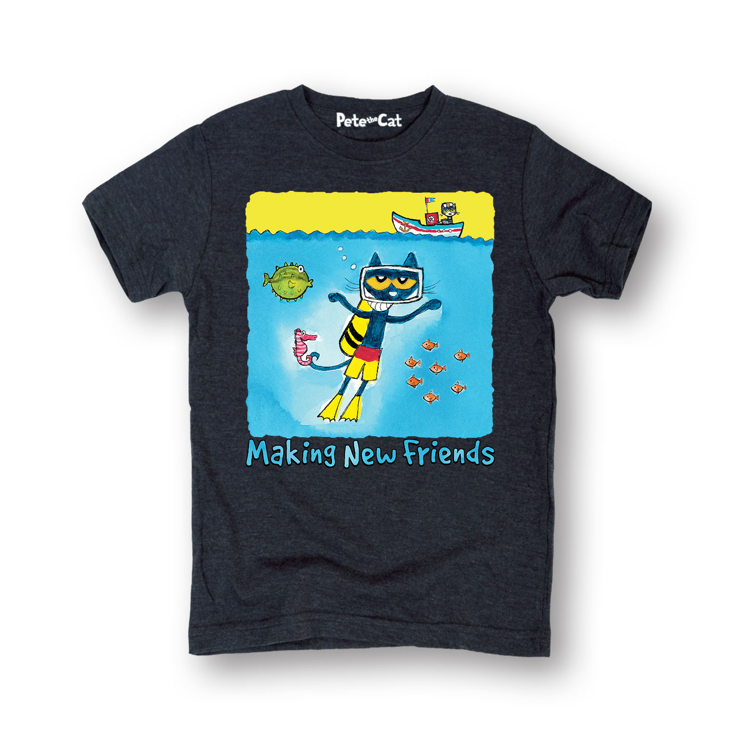 Pete The Cat Making Friends Multi - Toddler Short Sleeve Tee