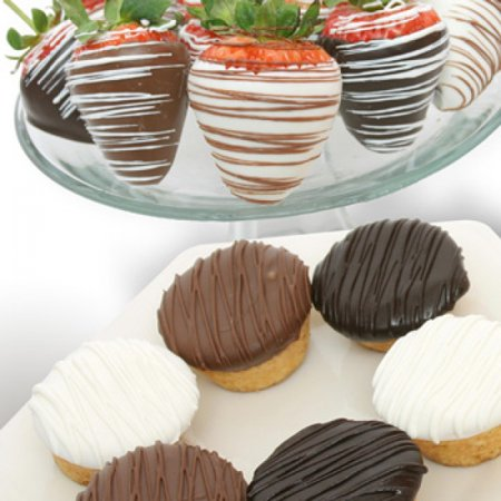 6 Belgian Chocolate Covered Strawberries And 6 Gourmet Min