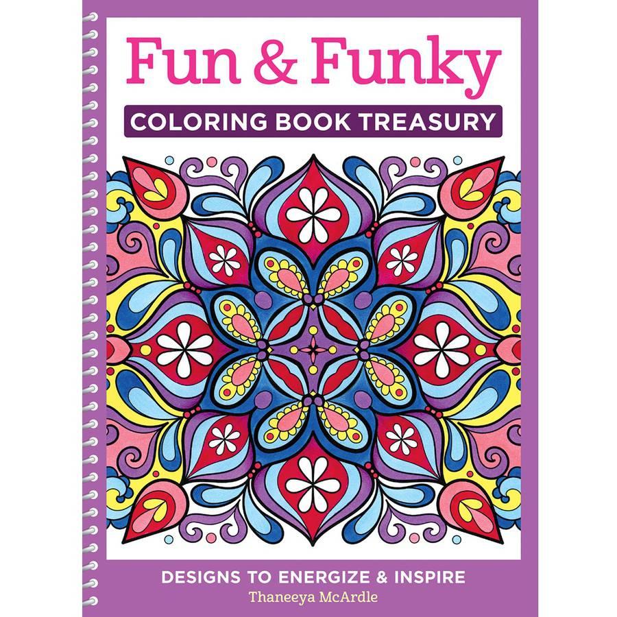 Design Originals Fun and Funky Adult Coloring Book