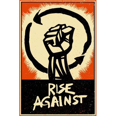 Rise Against Flag - Rise Against - Poster Fist Print