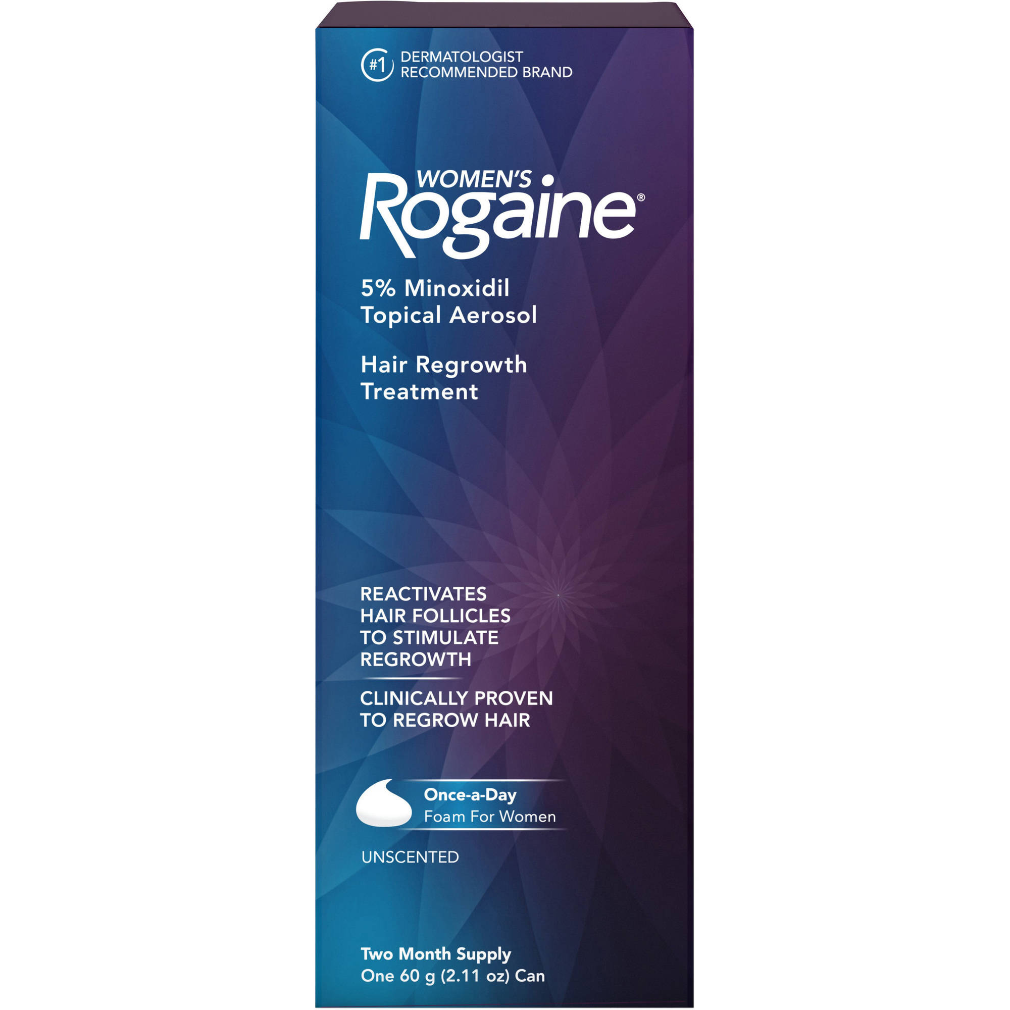 Women's Rogaine Once-A-Day Foam Hair Regrowth Treatment, Two Month Supply