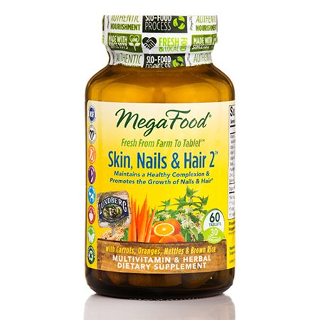 Nails 60 Tablets (Skin, Nails & Hair 2 - 60 Tablets by MegaFood )