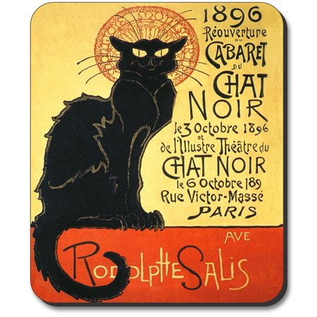 Art Plates Mouse Pad - Chat Noir Design