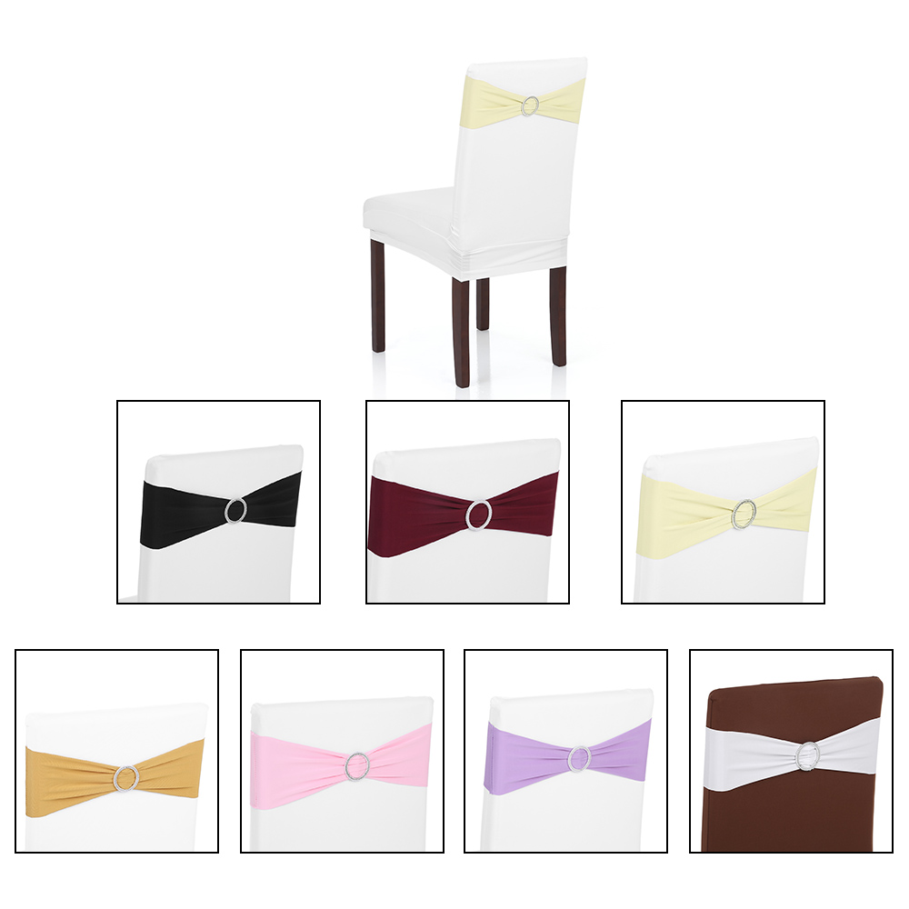Anself 50PCS Wedding Decorations Elastic Spandex Chair Co...